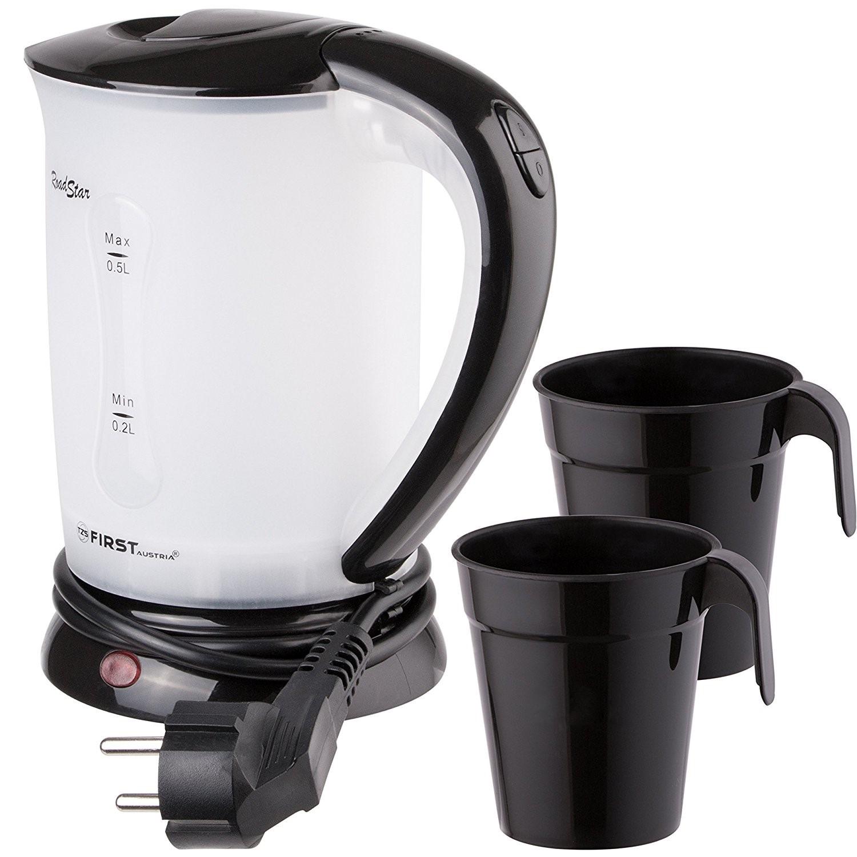 Электрический чайник First FA-5425-2-BA чайник first fa 5427 8 bu 2200 вт белый синий 1 7 л пластик