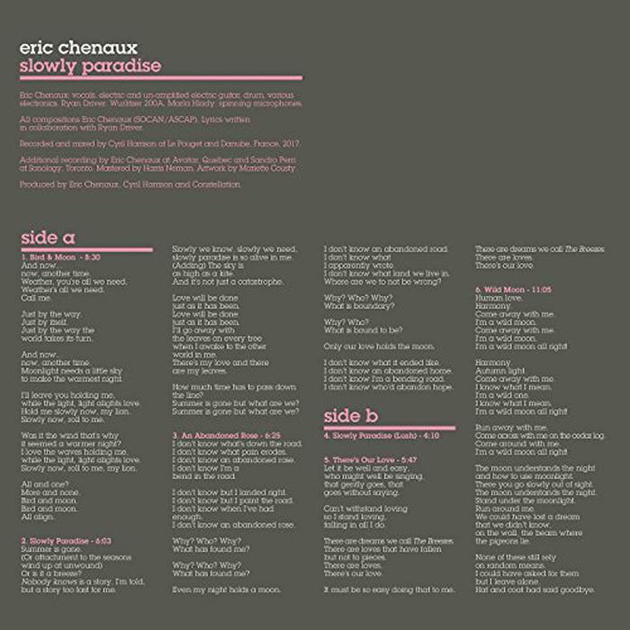 Eric Chenaux Eric Chenaux. Slowly Paradise (LP) eric lafontaine nanothermites