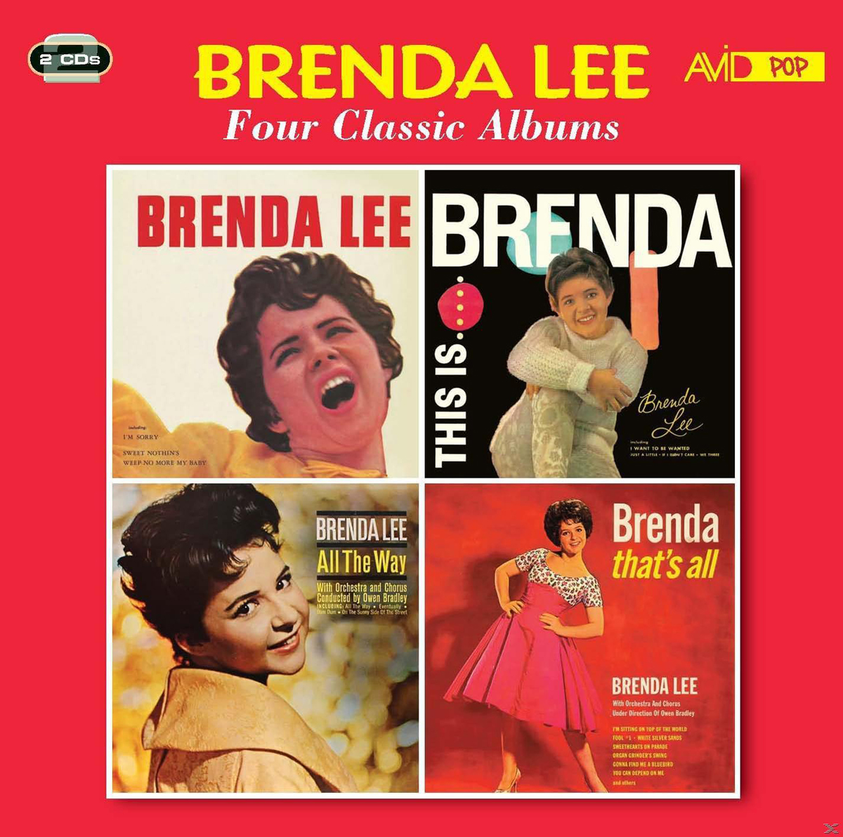 бренда ли brenda lee brenda that s all all alone am i Бренда Ли Lee Brenda. Four Classic Albums (2CD)