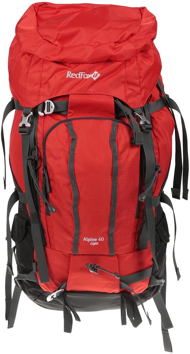Рюкзак туристический Red Fox Alpine 40 Light, цвет: красный, 40 л