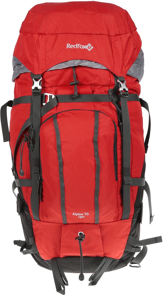 Рюкзак туристический Red Fox Alpine 50 Light, цвет: красный, 50 л