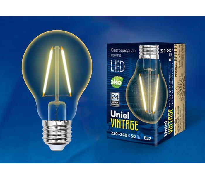 Лампа светодиодная Uniel Vintage LED-A60-6W/GOLDEN/E27, UL-00002355