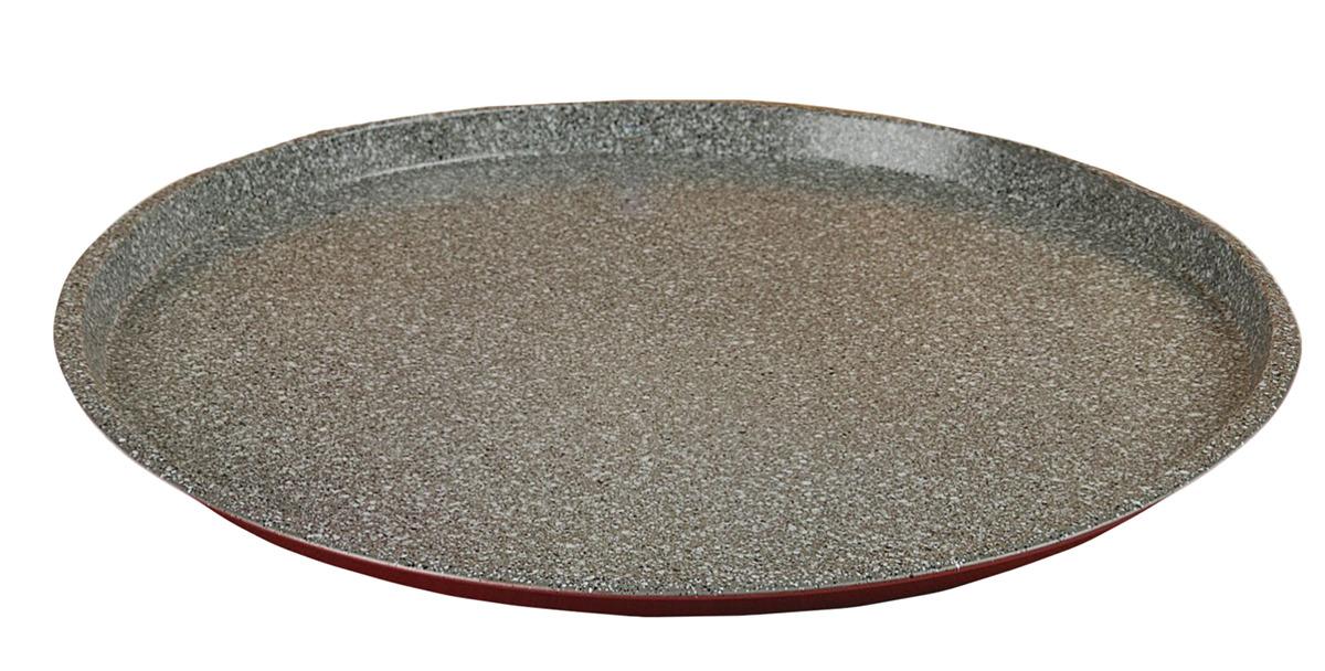 Форма для пиццы Доляна Мрамор Пицца, 2397292, с антипригарным покрытием, 33,5 х 1,5 см форма для пиццы dr oetker comfort круглая с антипригарным покрытием цвет серый диаметр 30 см
