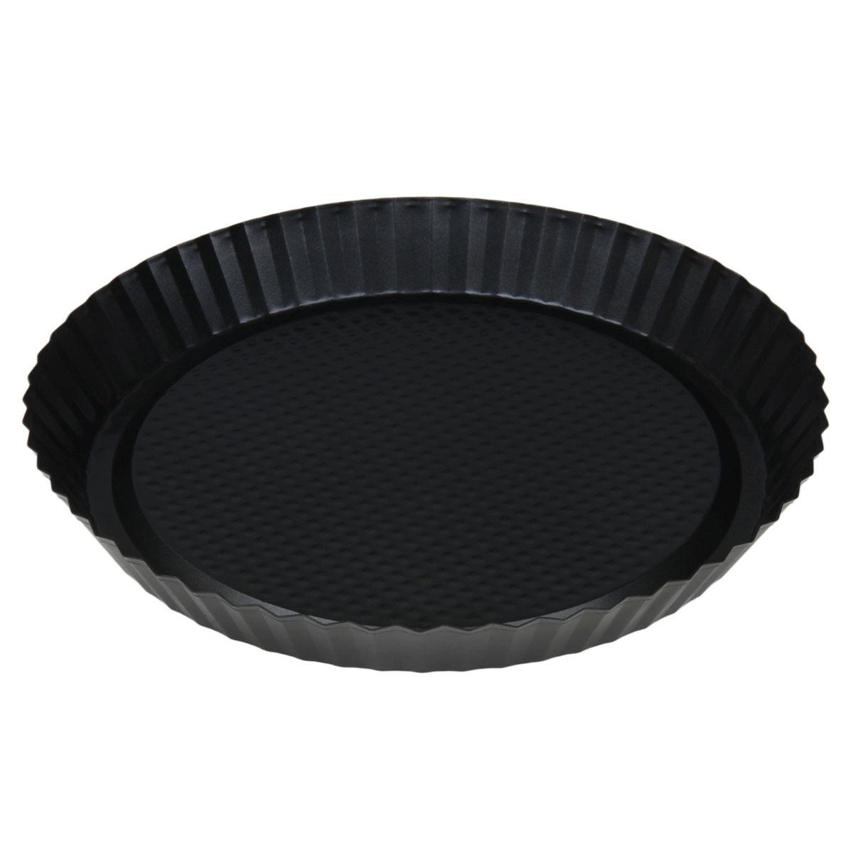Форма для выпечки Доляна Жаклин Рифленый круг, 827544, с антипригарным покрытием, 27 х 3,5 см форма для выпечки жаклин круг 2803204 с антипригарным покрытием 28 ячеек 40 7 х 28 5 х 3 см