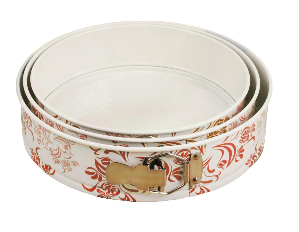 Набор для выпечки Доляна Филиси Круг, 1428450, разъемный, 3 шт1428450Форма для выпечки - один из самых важных предметов на кухне хорошей хозяйки. С качественной посудой радовать домашних пирогами, кексами, запеканками и прочей вкуснятиной вы сможете хоть каждый день!