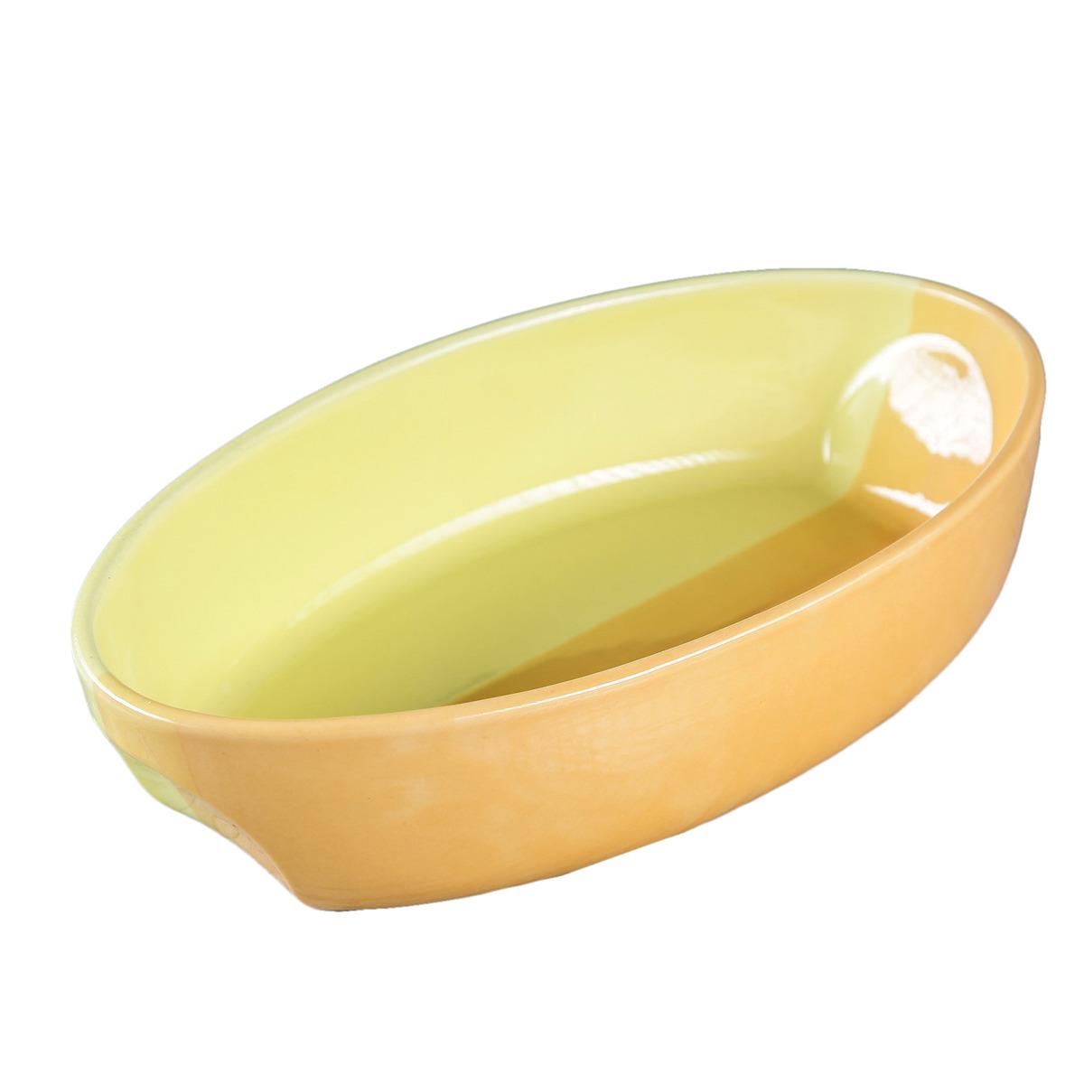 Блюдо для запекания Керамика ручной работы Лимонаж , 3463800, 1,5 л блюдо для запекания аперитив прямоугольные 3 шт керамика