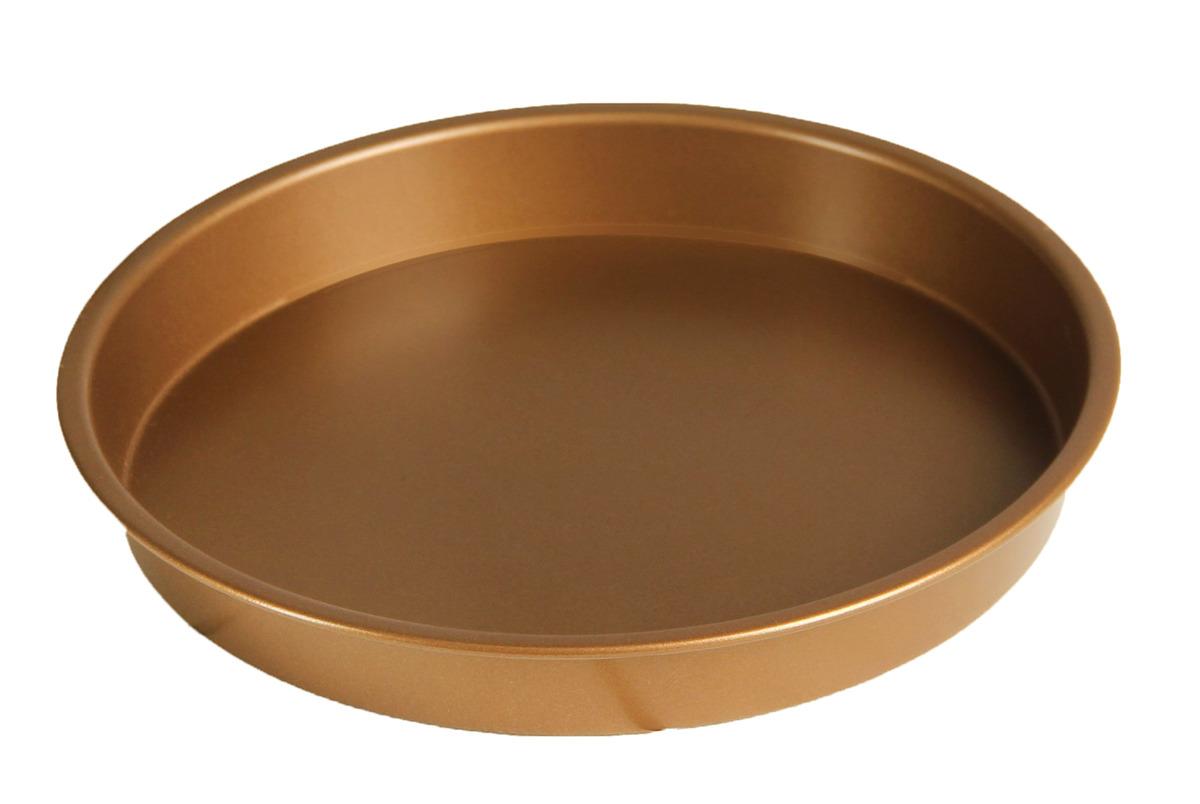 """Форма для выпечки Доляна """"Круг Золото"""", 3137335, с антипригарным покрытием, диаметр 20 см"""
