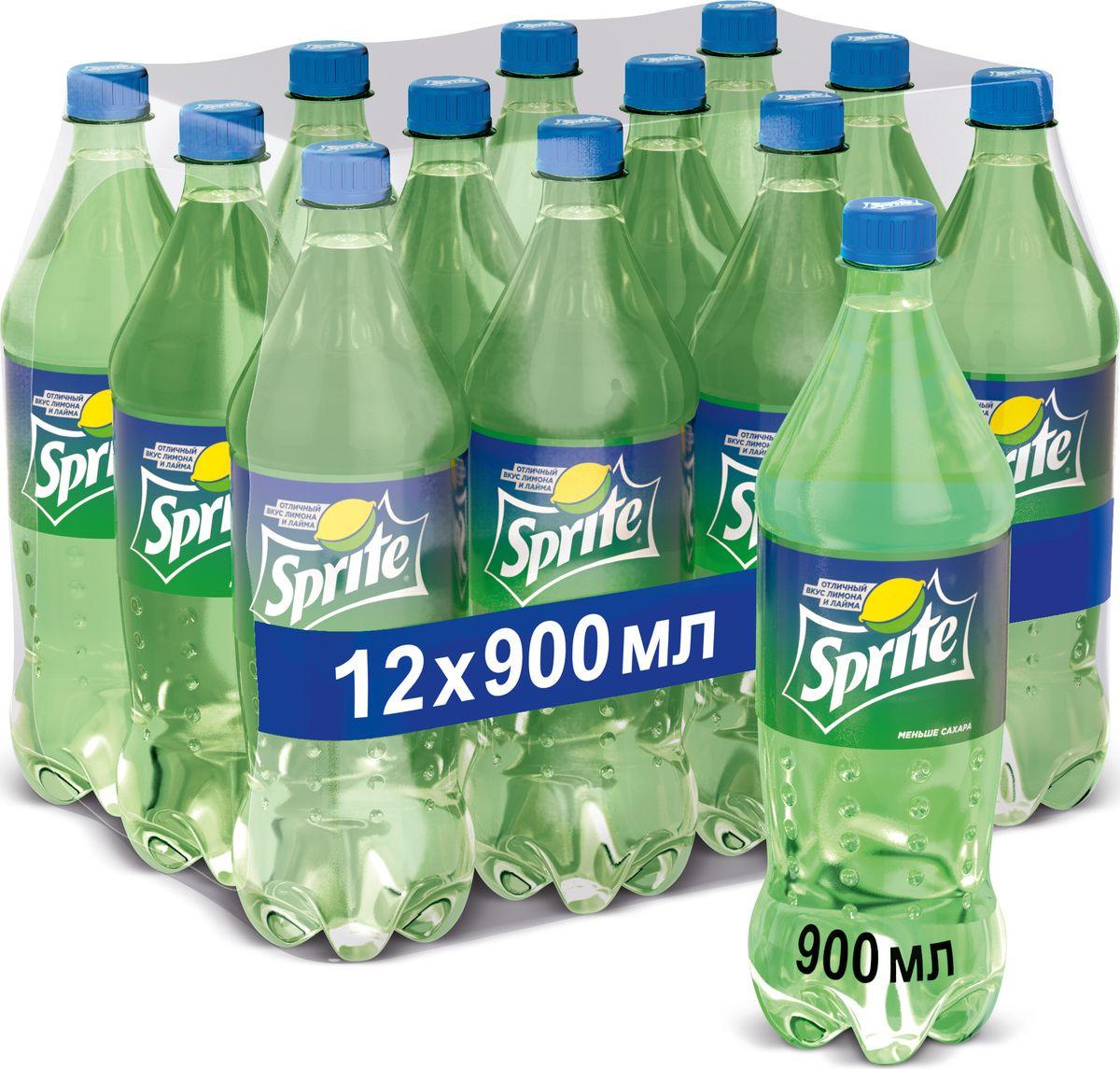 Напиток сильногазированный Sprite, 12 шт по 0,9 л