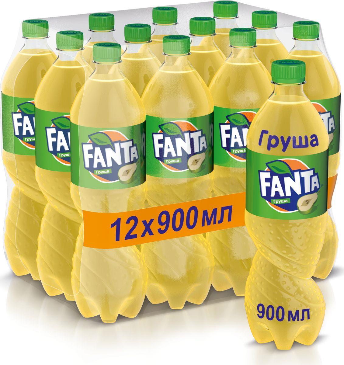 """Напиток сильногазированный Fanta """"Груша"""", 12 шт по 0,9 л"""