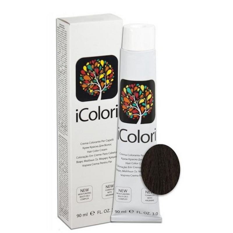 Крем-краска iColori темно-коричневый - 90 мл. KayPro 16801-3 3