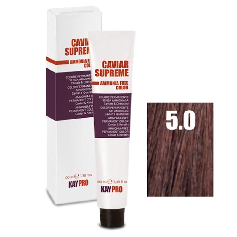 Крем-краска CAVIAR SUPREME светло-коричневый - 100 мл. KayPro 19155-5.0 5.0 окислитель kaypro caviar supreme oss 10 v