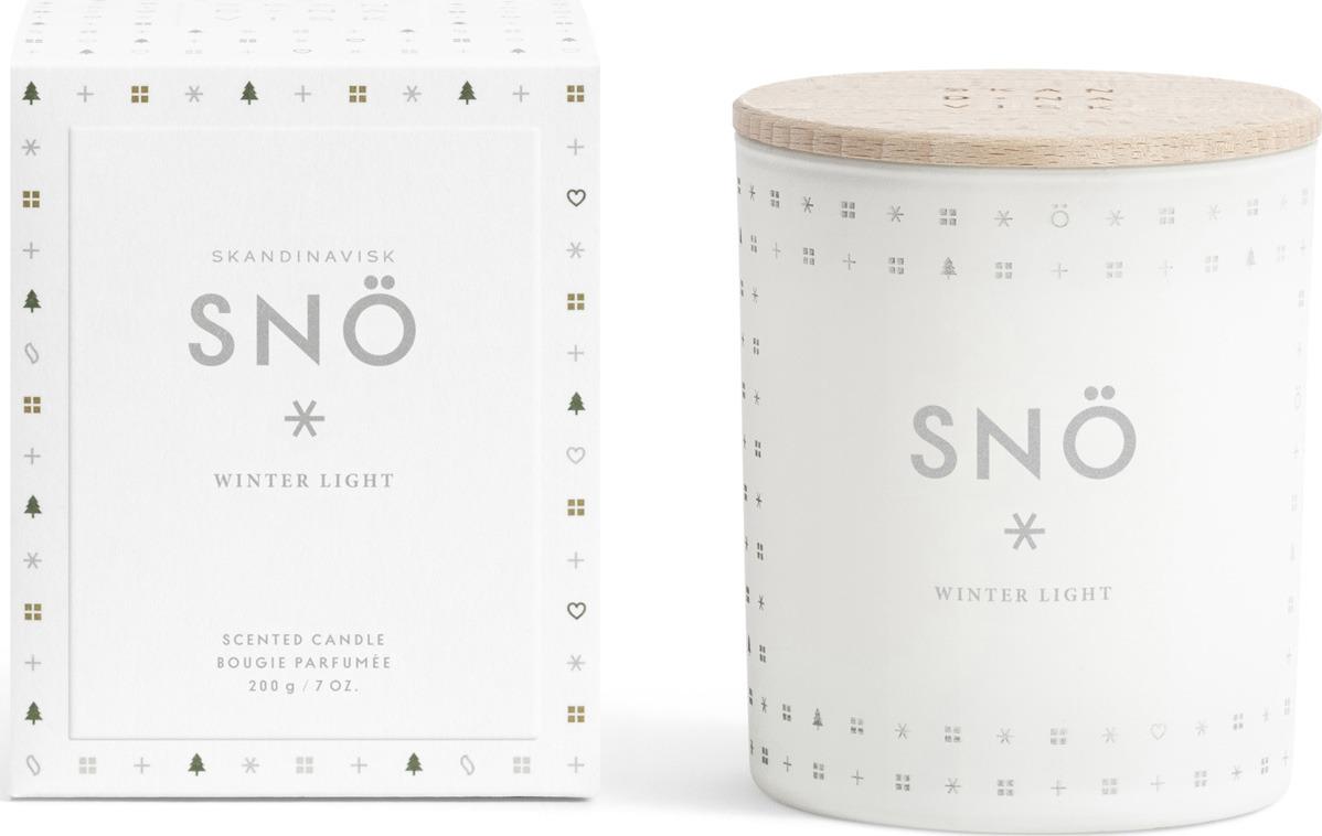 Свеча ароматизированная SKANDINAVISK Sno, SK1222, с крышкой, 200 г