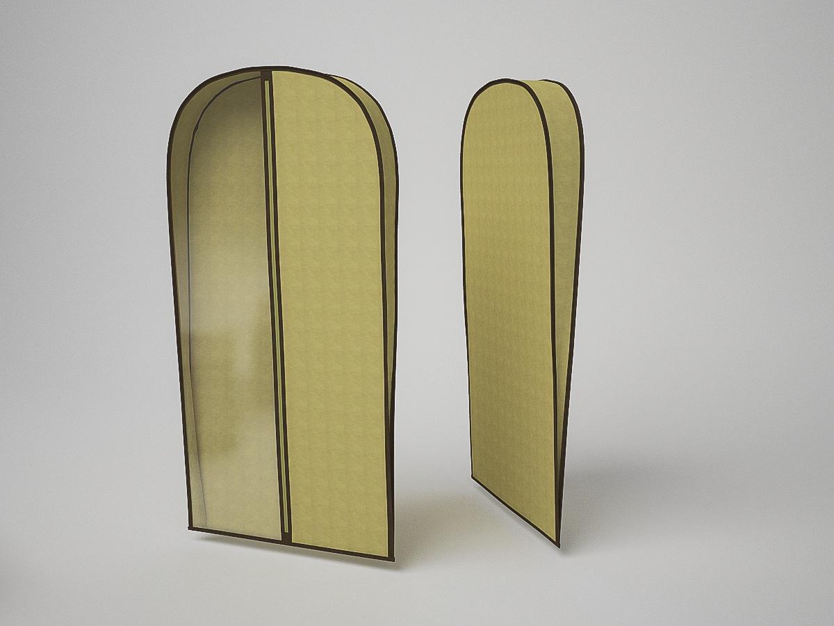 Чехол для хранения одежды Камея объемный, ch1417, бежевый, 60 х 100 х 10 см