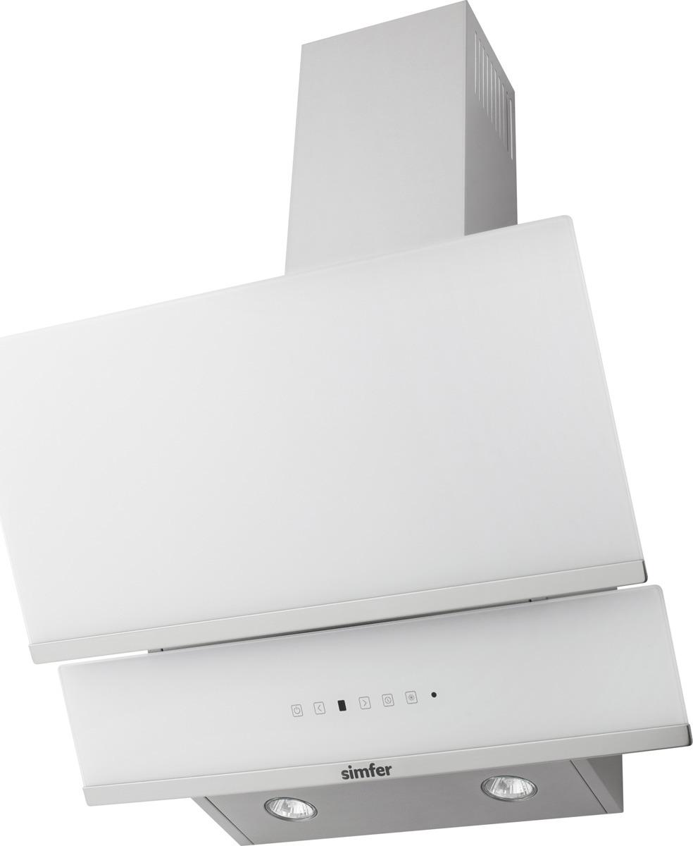 Вытяжка настенная Simfer 8668 SM, цвет: белый8668SMВытяжка средней ценовой группы белого цвета. Фасад вытяжки изготовлен из закаленного стекла и прекрасно подойдет ценителям современного стиля.Вытяжка имеет 3 режима работы, дисплей, сенсорное управление и 2 галогеновые лампы освещения.Для работы вытяжки в режиме рециркуляции необходимо использовать угольный фильтр. Комплект фильтров приобретается дополнительно.