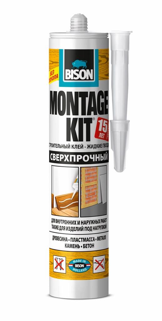 цена на Монтажный клей BISON MONTAGEKIT SUPER STRENGTH CRT 350G, 6304336