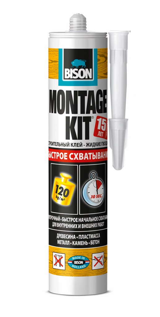 цена на Монтажный клей BISON MONTAGEKIT EXTREME GRIP CRT 370G, 6304340
