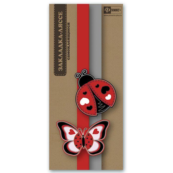 """Закладка-ляссе для книг Феникс+ """"Бабочка и божья коровка"""", 45890/60"""