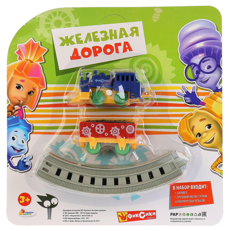 Железная дорога Играем вместе Фиксики, 258417 железная дорога играем вместе железная дорога заводная фиксики с 3 х лет b1279625 r