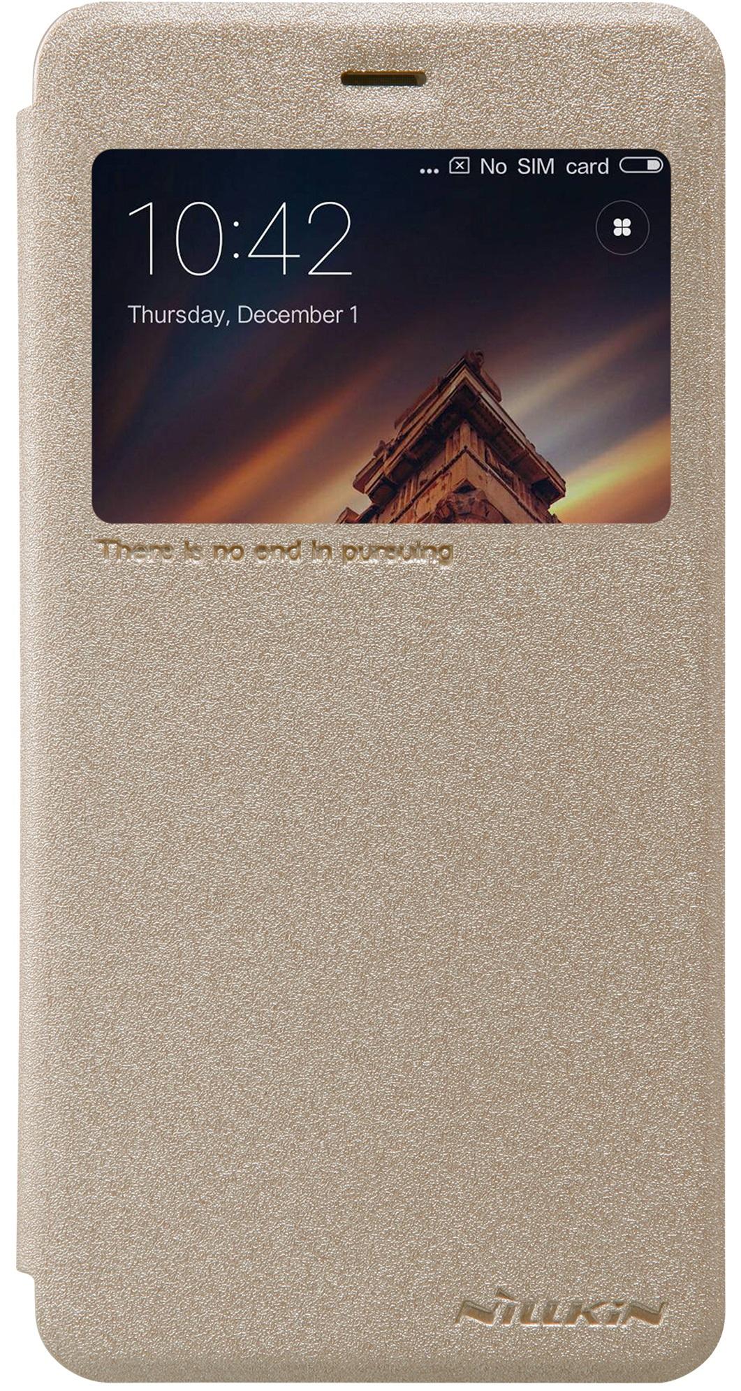 Чехол Nillkin Sparkle для Xiaomi RedMi 4A, 6902048134317, золотистый чехол nillkin sparkle для xiaomi redmi 4a 6902048134317 золотистый