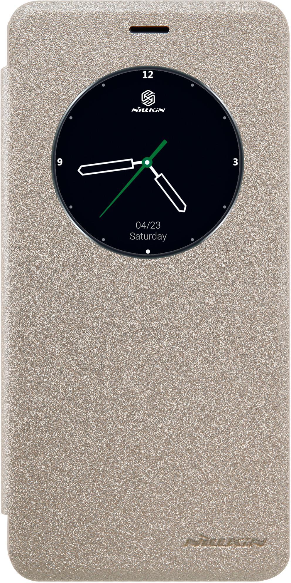 Чехол Nillkin Sparkle для Meizu M3E, 6902048128392, золотистый nillkin meizu pro7 матовый телефон защитная крышка чехол чехол для мобильного телефона черный