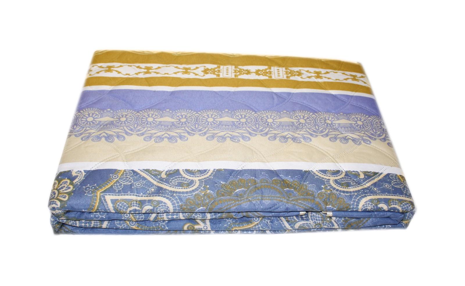 Покрывало BegAl ПИШ220-А1522, 200 х 210 см, синий, горчичный, бежевый