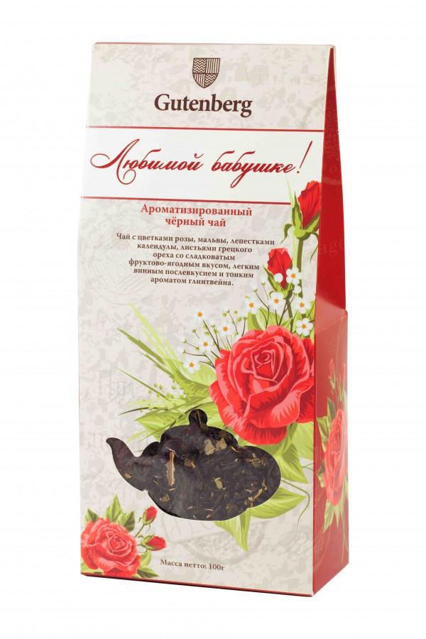 Чай чёрный ароматизированный Любимой бабушке, 100 г благовоние candle banks любимой бабушке с ароматом ландыша 416321