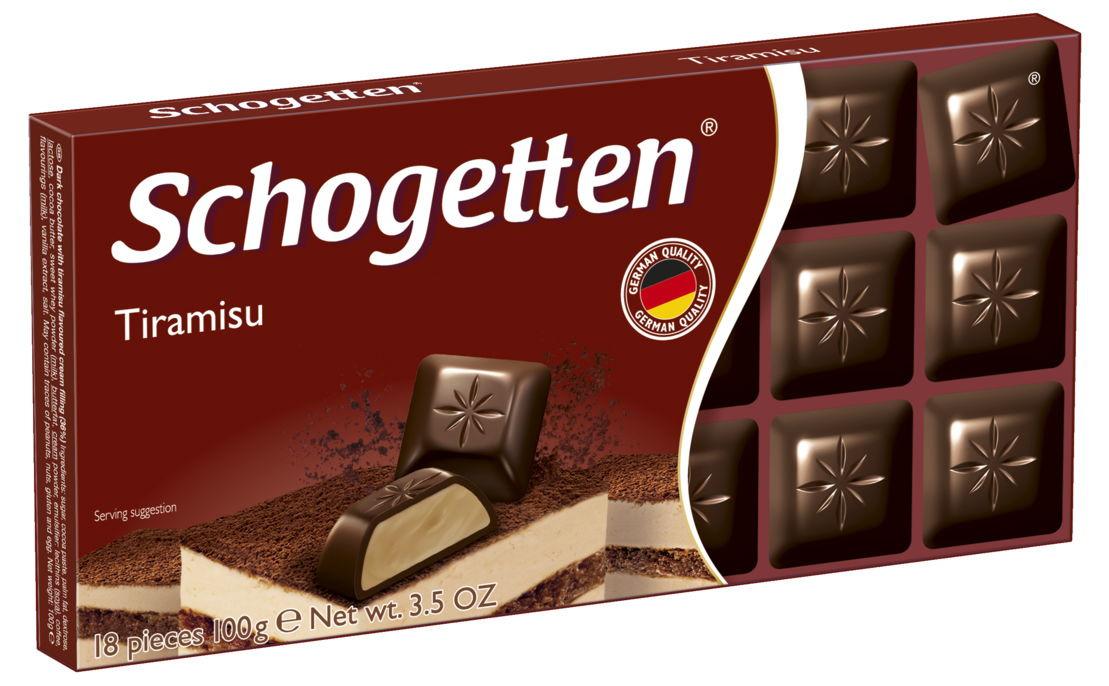 Schogetten Tiramisu темный шоколад с начинкой, 100 г династия лимончелло темный шоколад 100 г