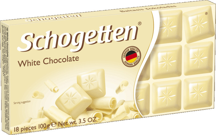 Schogetten White белый шоколад, 100 г путешествие шоколад