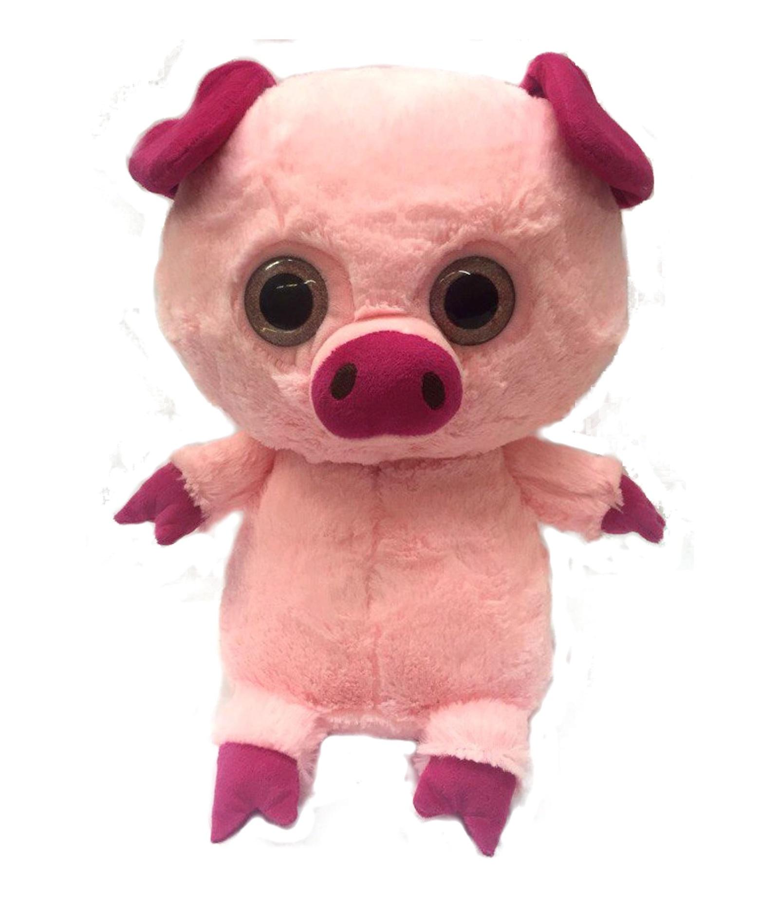 Мягкая игрушка СмолТойс Поросенок-глазастик, 6166/РЗ/29, розовый