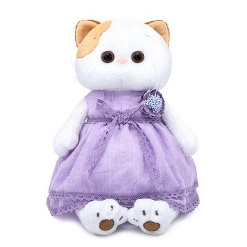 Мягкая игрушка BUDIBASA 24 см белый, фиолетовый