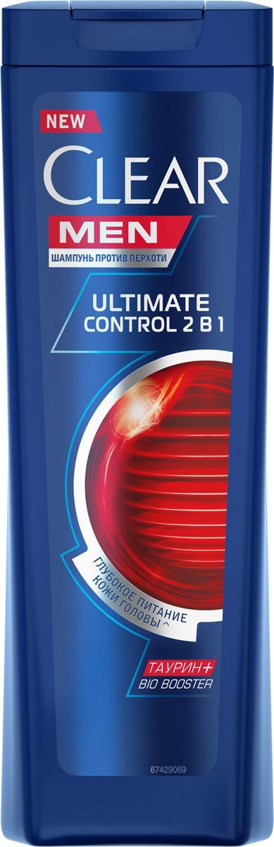 """Clear Men, 2в1 шампунь и бальзам-ополаскиватель против перхоти для мужчин """"Ultimate Control"""", 200 мл"""