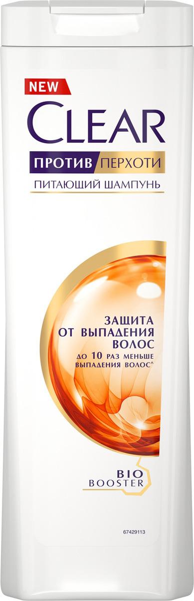 """Шампунь против перхоти Clear """"Защита от выпадения волос"""", для женщин, 400 мл"""