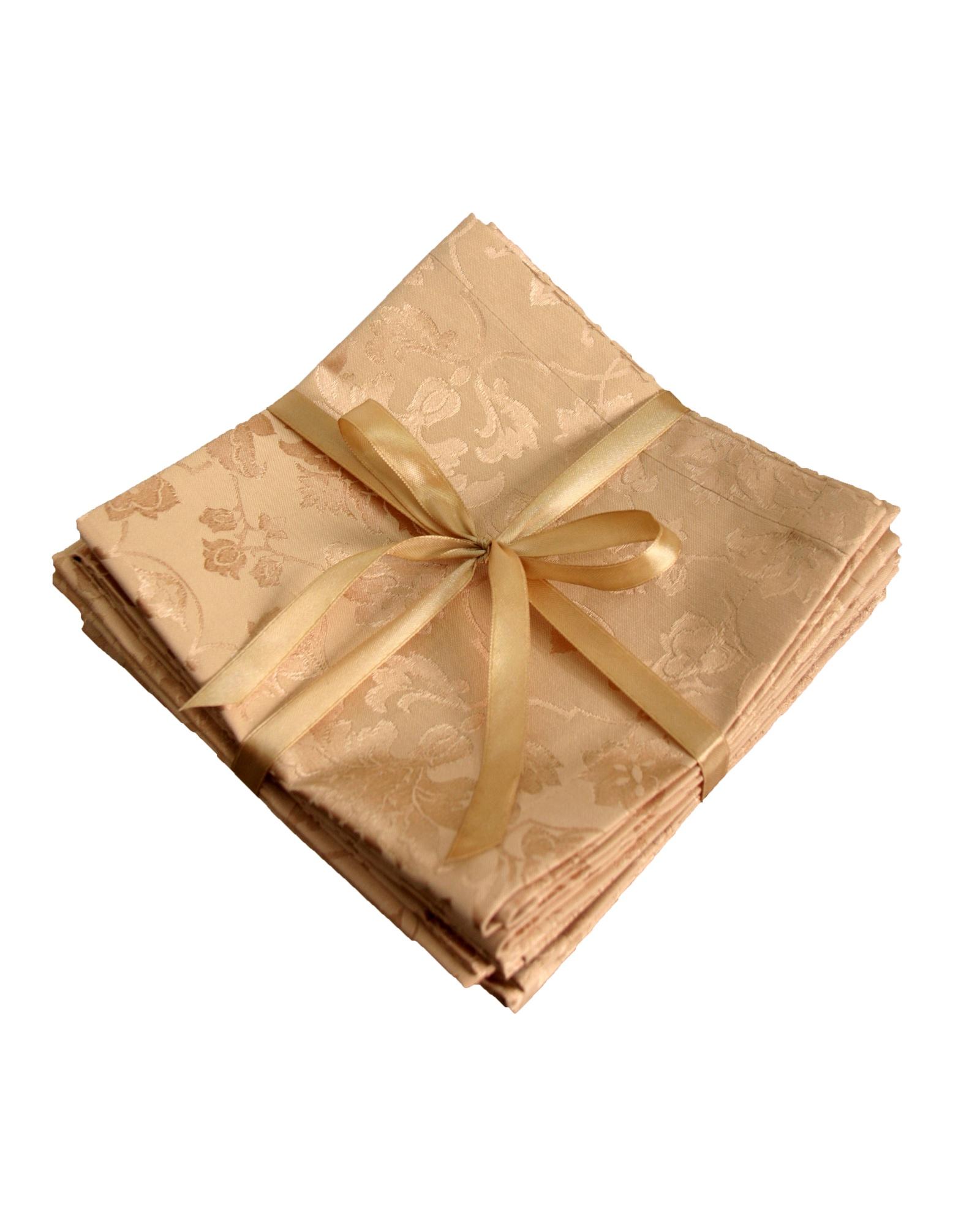 Салфетка столовая Naturel Набор салфеток золотой H18059-40x40-BG 40х40 6 шт, золотой цены онлайн