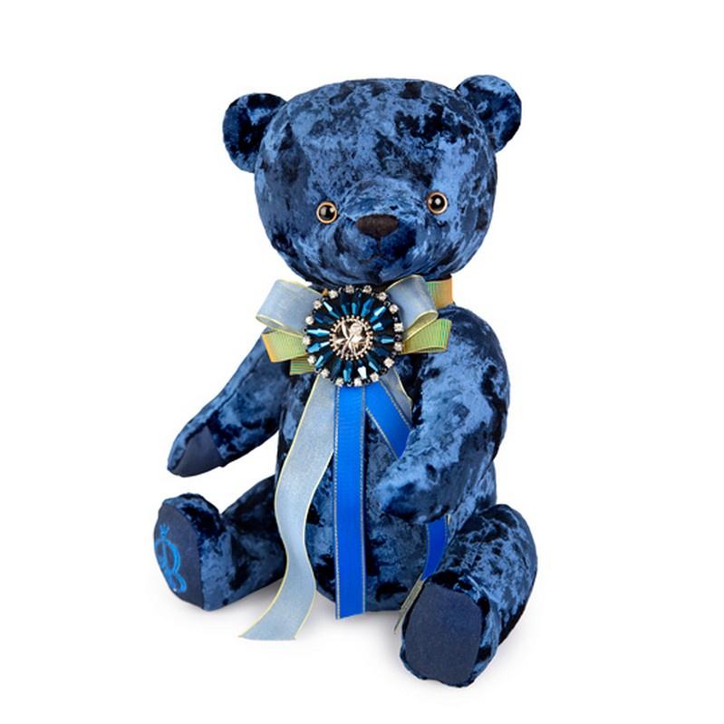 Мягкая игрушка BUDIBASA Медведь БернАрт, сапфировый, 30 см брошь медведь