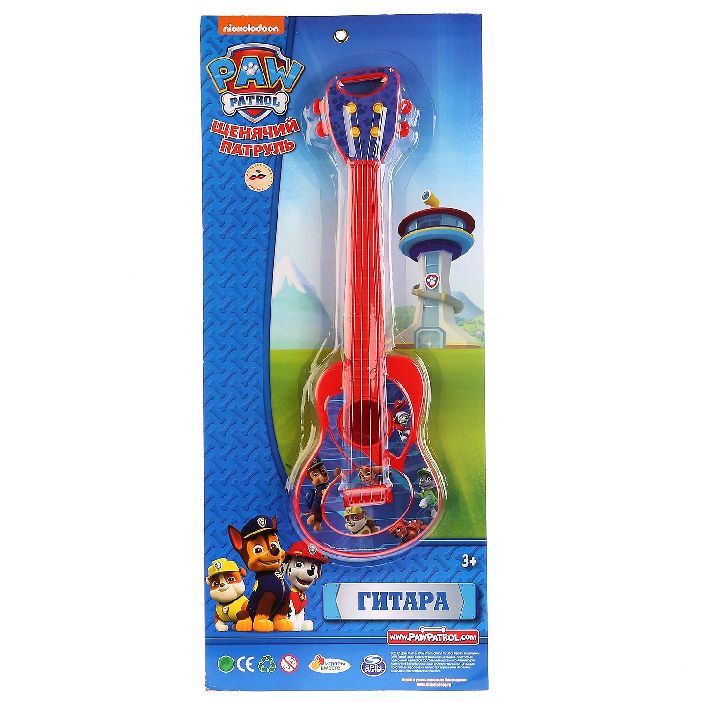 Гитара Играем вместе Щенячий патруль 258956, детская, разноцветный детский музыкальный инструмент играем вместе набор щенячий патруль b678624 r2