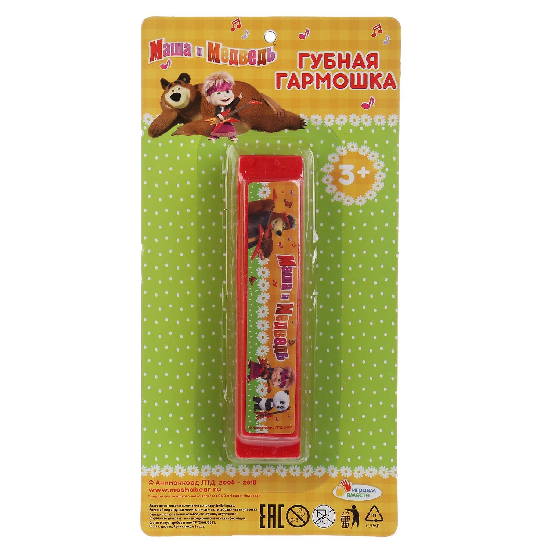 Губная гармошка Играем вместе Маша и медведь 263419, красный брюки mango mango ma002ewgjyv4