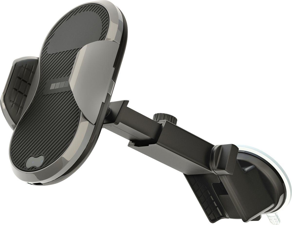 лучшая цена Автомобильный держатель Interstep QI, IS-HD-QIHLGB10W-000B201, черный, темно-серый
