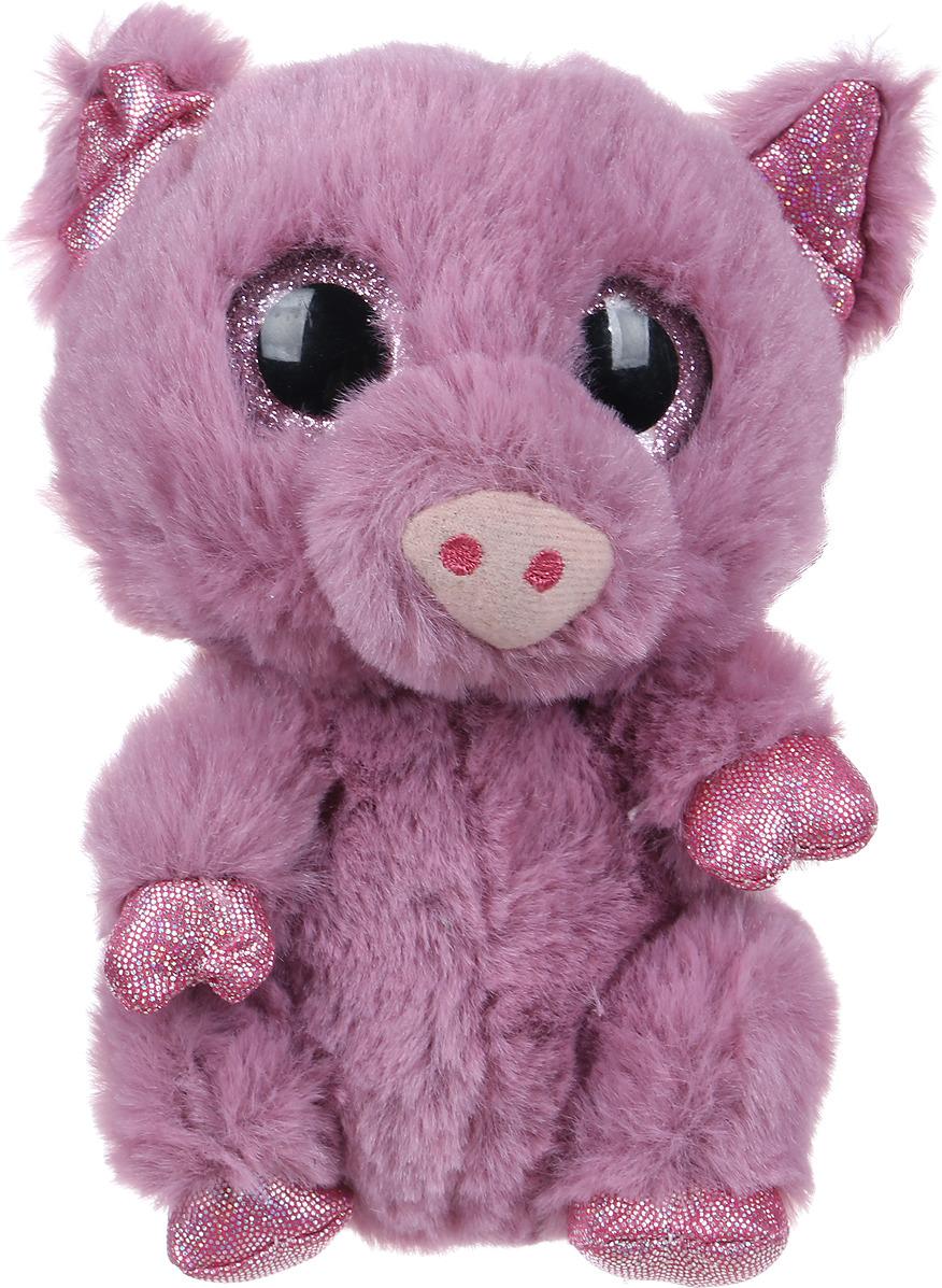 Мягкая игрушка Teddy Свинка 15 см, 109345, фиолетовый