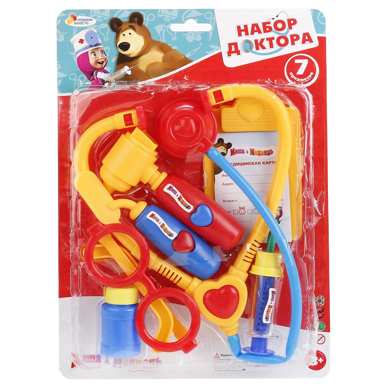 Игровой набор Играем вместе 182553, 182553 желтый, синий, красный набор маленький доктор 10 предм