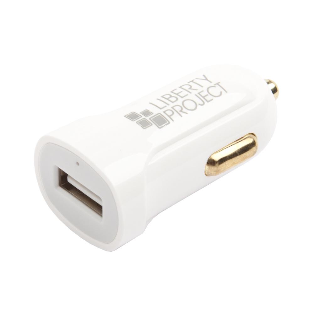 Автомобильное зарядное устройство Liberty Project USB + кабель USB Type-C 2.1A, 0L-00032727, White цена в Москве и Питере