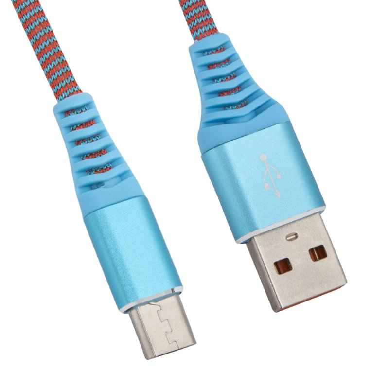 "USB кабель Liberty Project ""Носки"" Micro USB 1 м, 0L-00038879, голубой"
