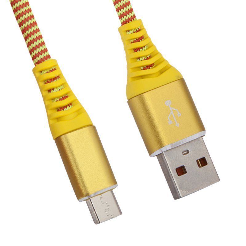 "USB кабель Liberty Project ""Носки"" Micro USB 1 м, 0L-00038880, желтый"