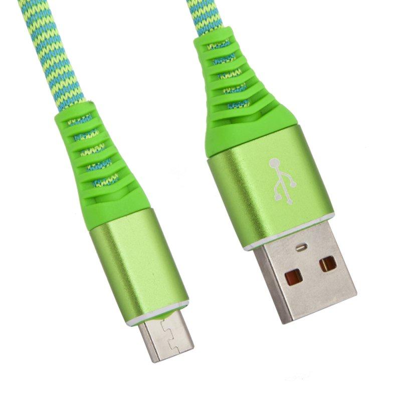 "USB кабель Liberty Project ""Носки"" Micro USB 1 м, 0L-00038881, зеленый"