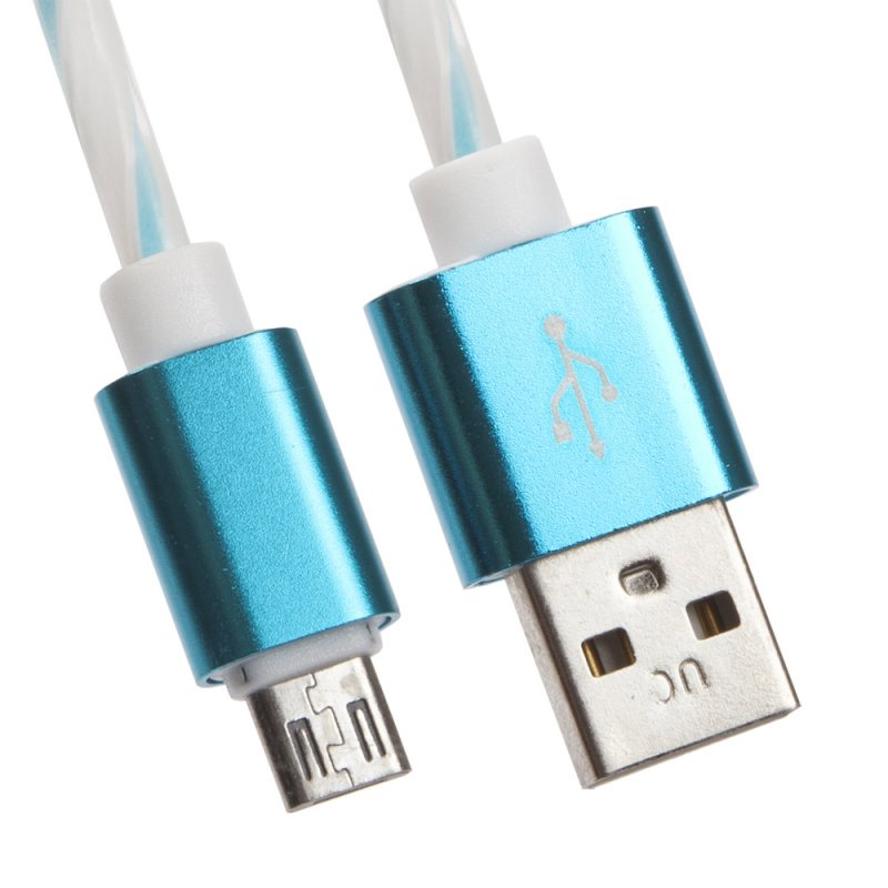USB кабель Liberty Project Micro USB 1 м, 0L-00030553, белый, голубой цена и фото
