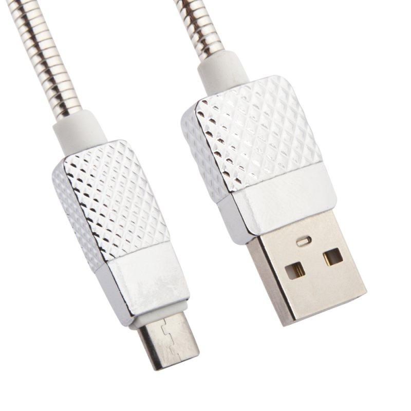 """USB-кабель металлический Liberty Project """"Гламурный ананас"""" Micro USB, серебряный"""
