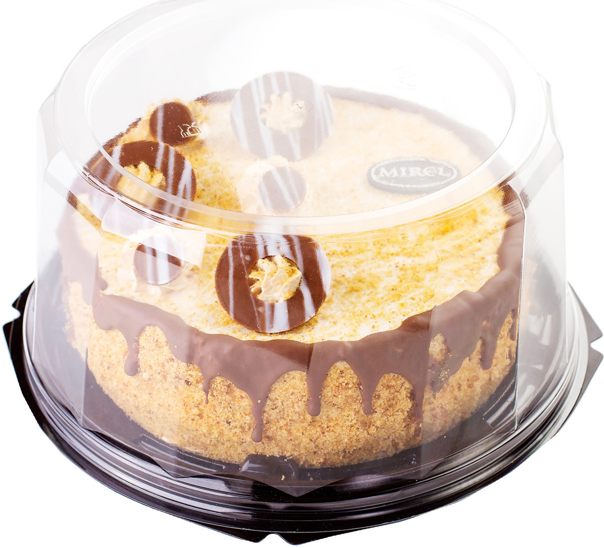 Торт бисквитный Mirel Медовый с крем-брюле, 1000 г торт marlenka медовый с какао 100 г