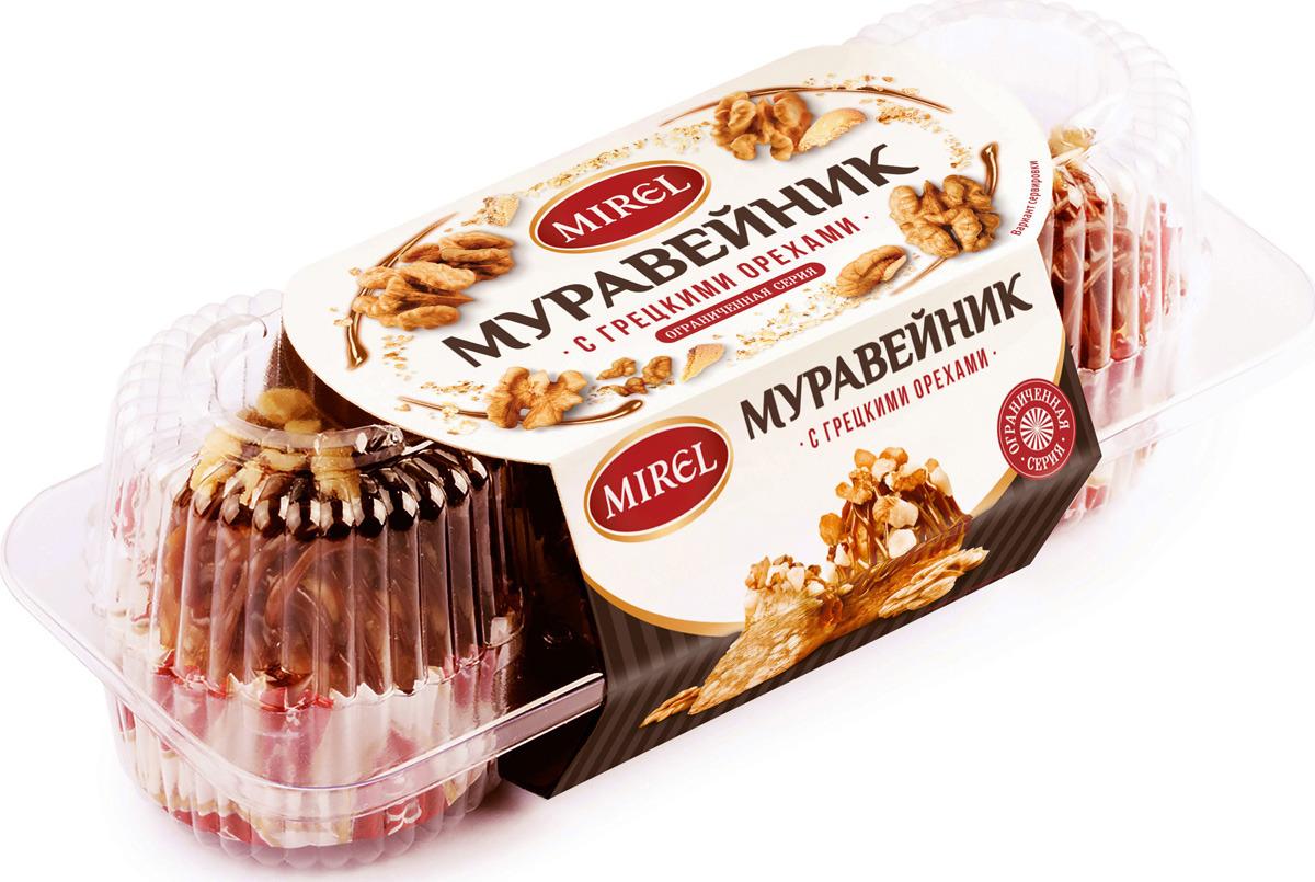 Пирожное Mirel Муравейник, с грецкими орехами, 210 г ильичева с ред домашние торты и пирожные очень много рецептов