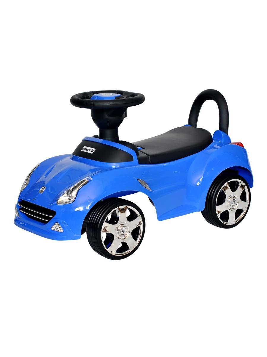 Музыкальная детская каталка Everflo Машинка 613 ПП100004318, синий