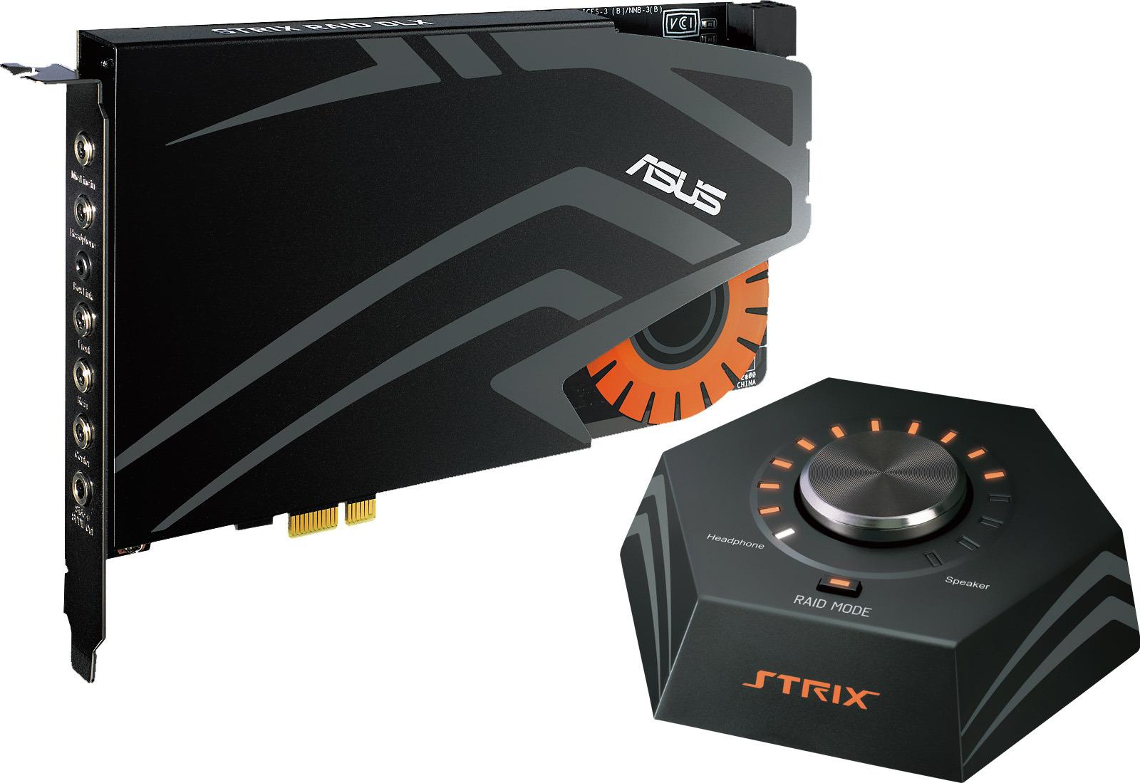 Звуковая карта ASUS Strix Raid DLX (C-Media 6632AX), STRIX RAID DLX цена и фото