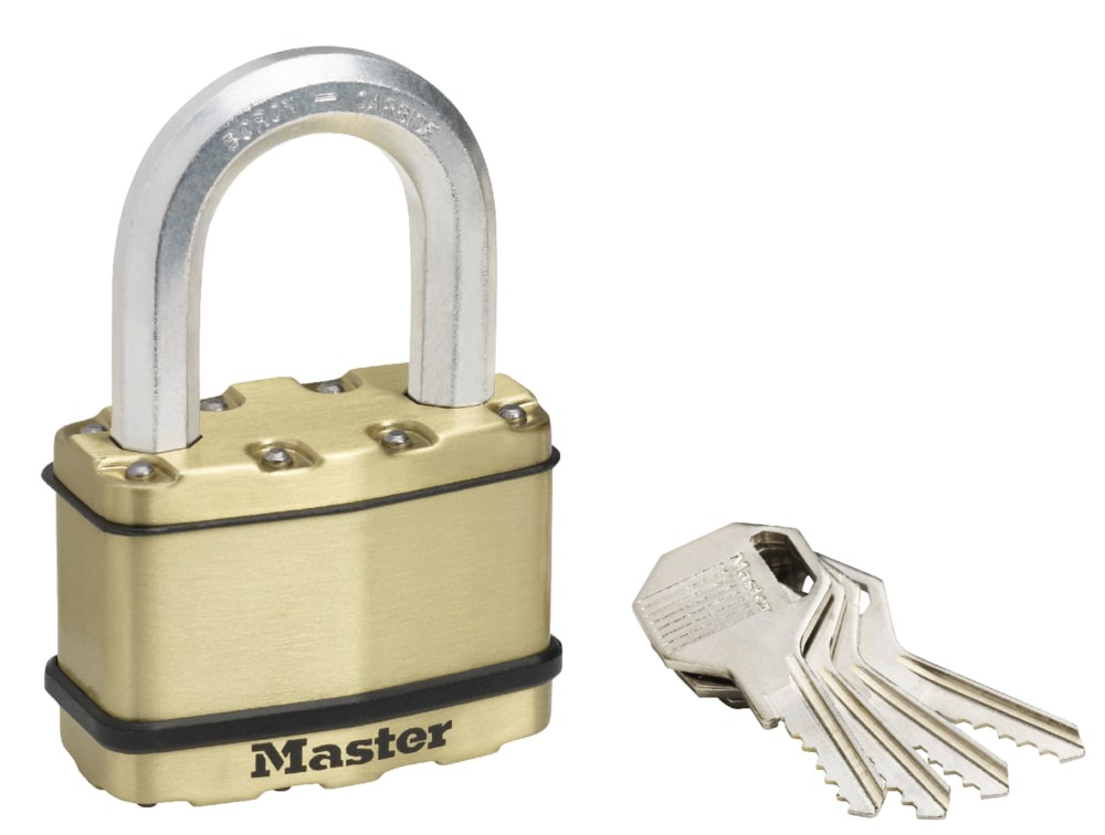 Замок MasterLock Навесной EXCELL™ A11/B38/C36/W64 сталь+латунь/8-бор-ст 2 5п 4к, M15BEURDLF замок masterlock навесной excell™ a10 b51 c20 w54 ст 8 бор ст 2 4п 4к m830eurdlh